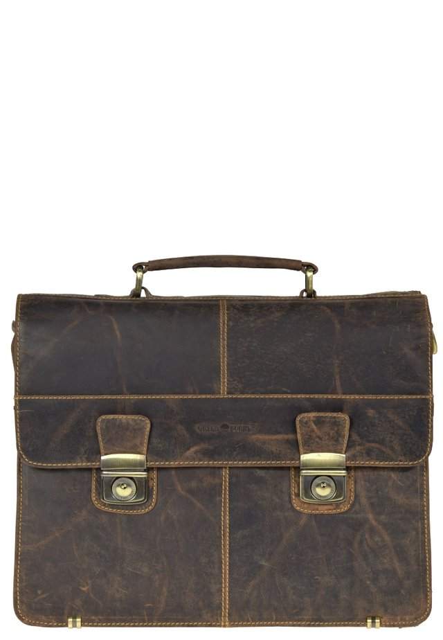 GREENBURRY VINTAGE AKTENTASCHE LEDER 40 CM - Briefcase - brown
