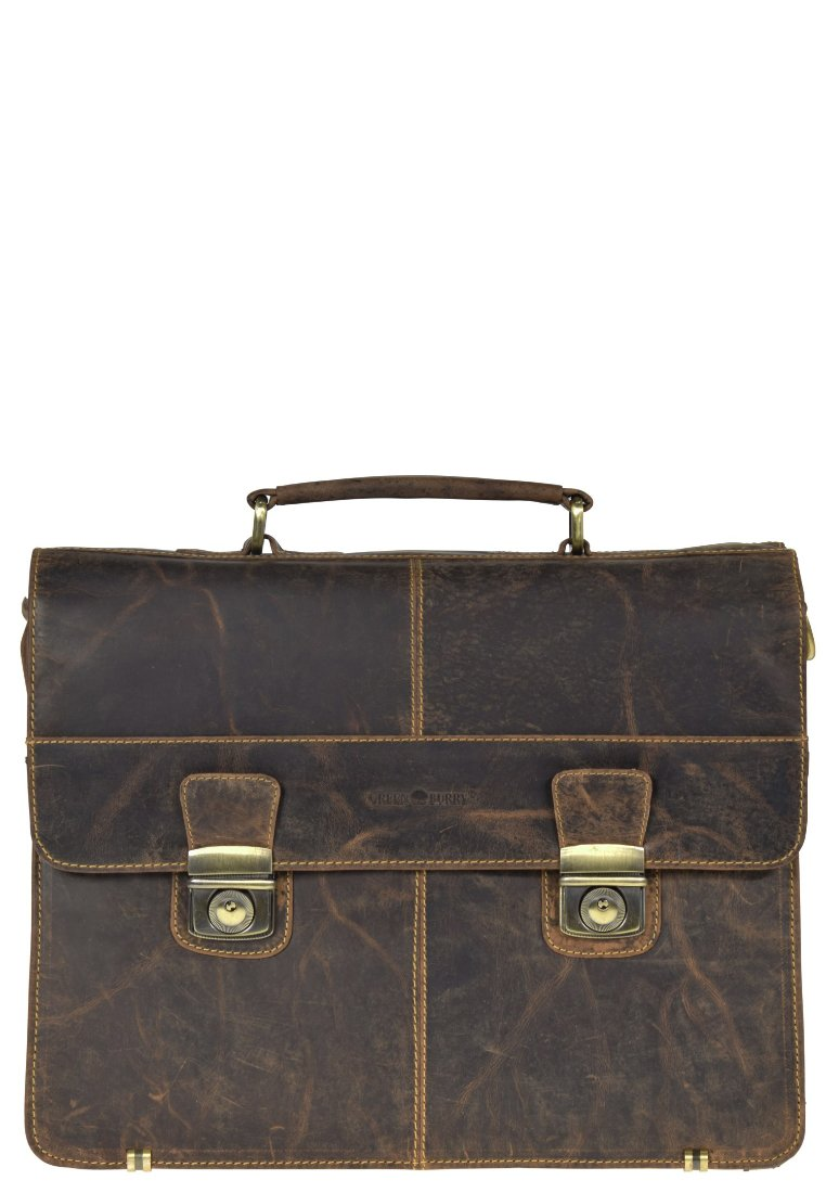 Greenburry - GREENBURRY VINTAGE AKTENTASCHE LEDER 40 CM - Mallette - brown