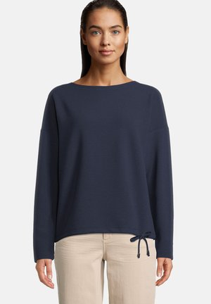 MIT STREIFEN - Sweater - navy blue