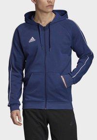 adidas Performance - CORE 19 HOODIE - veste en sweat zippée - blue - 4