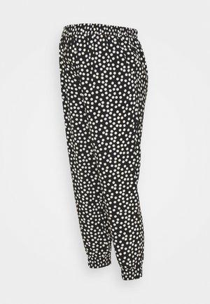SPOT PRINT UNDERBUMP - Trousers - black