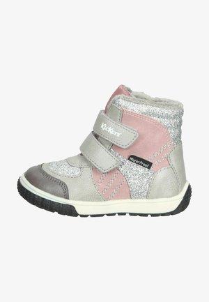 Winter boots - gris glitter rose
