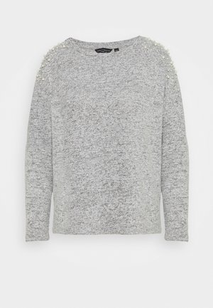 PEARL SHOULDER BRUSHED  - Strikkegenser - grey marl