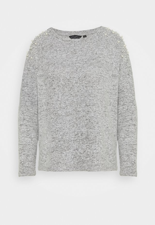 PEARL SHOULDER BRUSHED  - Pullover - grey marl