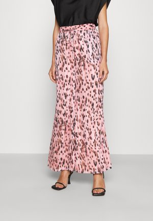 LEOPARD STRIPE BURNOUT - Trousers - pink/multi