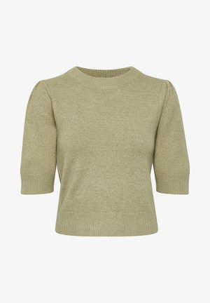 SLRIVA FITTED - Sweter - gray green
