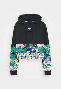 adidas Originals - CROPPED HOODIE - Huppari - black - 4