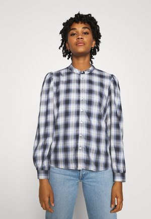 ONLABBIE VOLUME CHECK - Blouse - black/blue