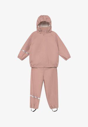 BASIC RAINWEAR SET UNISEX - Pantaloni impermeabili - misty rose