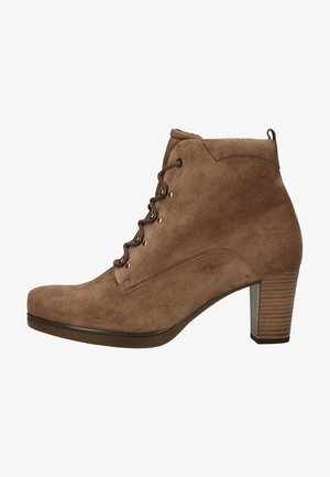 Lace-up ankle boots - mohair