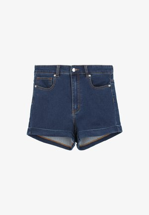 Denim shorts - dark blue jeans