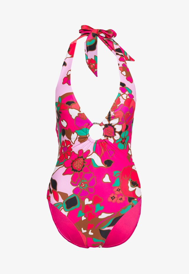 PINATA PLUNGE O RING SWIMSUIT - Maillot de bain - pink