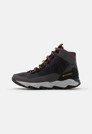 FLOWBOROUGH MID - Hiking shoes - dark grey/bright gold