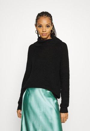 VIJUPA TURTLE NECK - Pullover - black