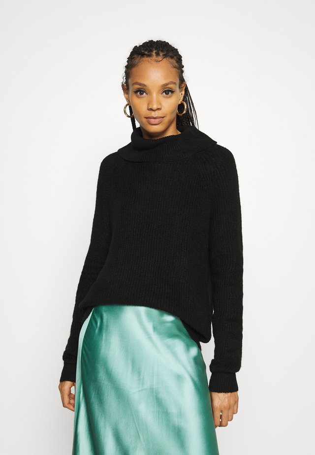 VIJUPA TURTLE NECK - Sweter - black