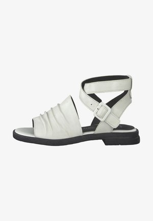 Ankle cuff sandals - white/black