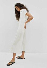 Massimo Dutti - KURZÄRMELIGES  - Shirt dress - white - 1