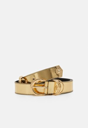 DOUBLE PIN BUCKLE BELT - Pasek - oro