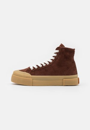 PALM UNISEX - Sneakers high - brown/white