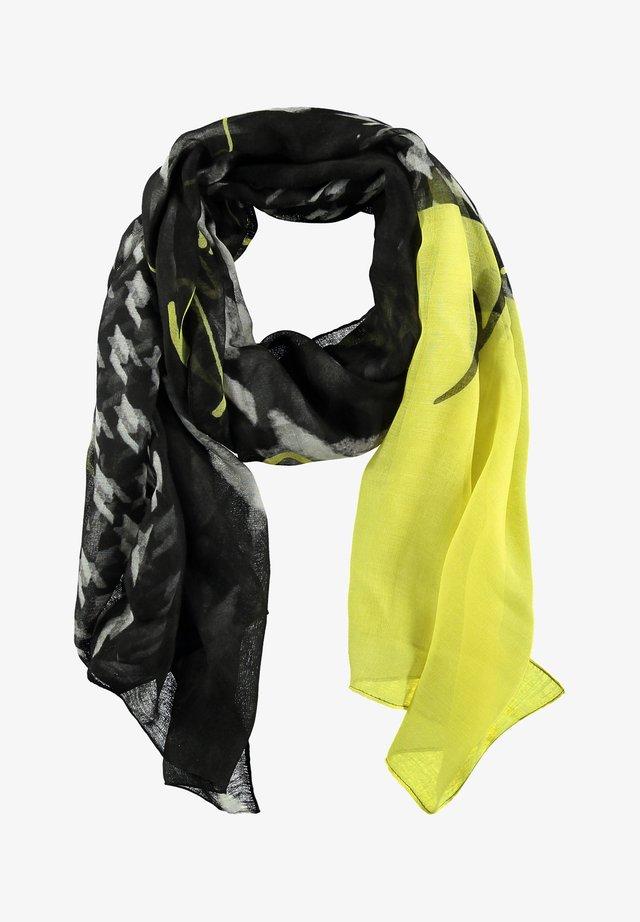 Schal - black gemustert