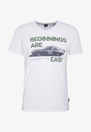CAR  - T-shirt con stampa - white