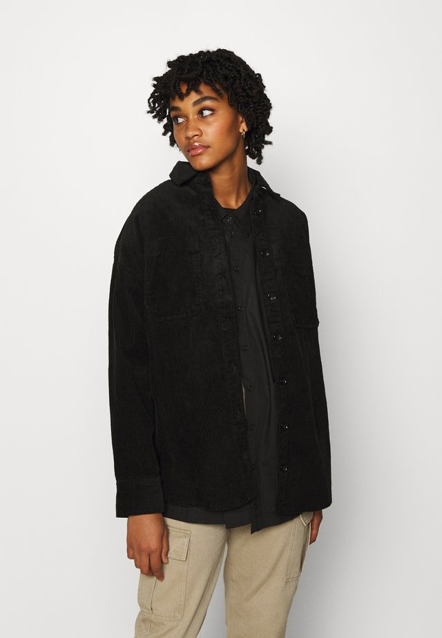 CONNY  SHIRT - Button-down blouse - black dark svart