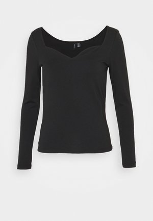 VMPANDA SWEETHEART  - Long sleeved top - black