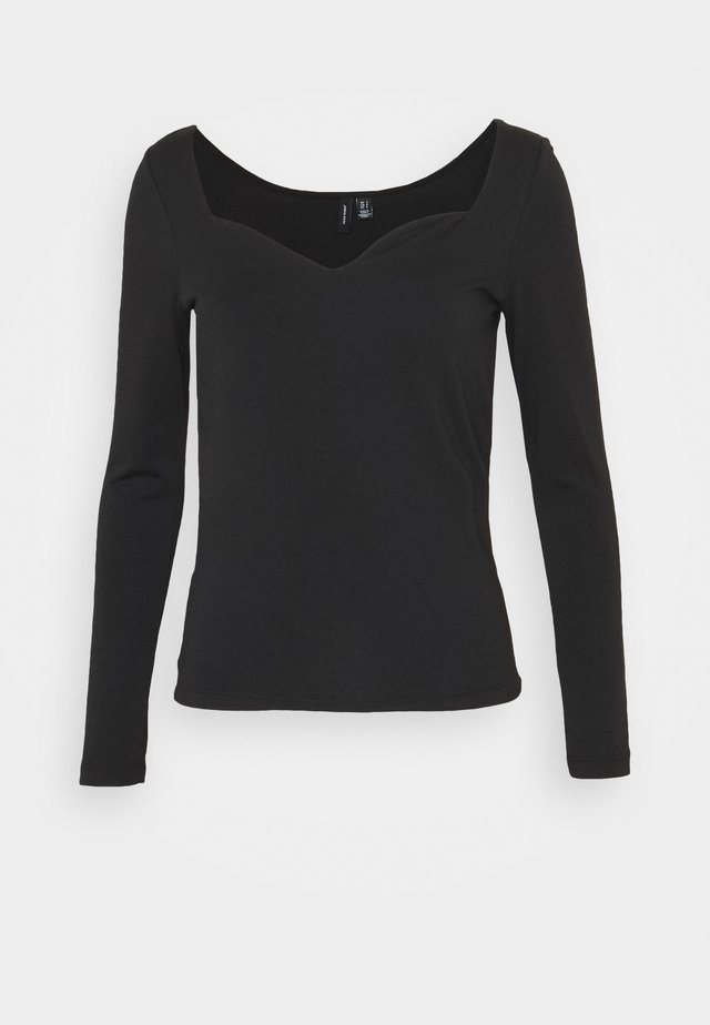 VMPANDA SWEETHEART  - Bluzka z długim rękawem - black