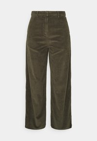 KnowledgeCotton Apparel - POSEY LOOSE HEAVY PANTS - Trousers - forrest night - 0