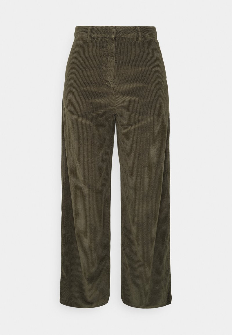 KnowledgeCotton Apparel - POSEY LOOSE HEAVY PANTS - Trousers - forrest night