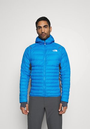 SPEEDTOUR HOODIE - Down jacket - blue/light grey