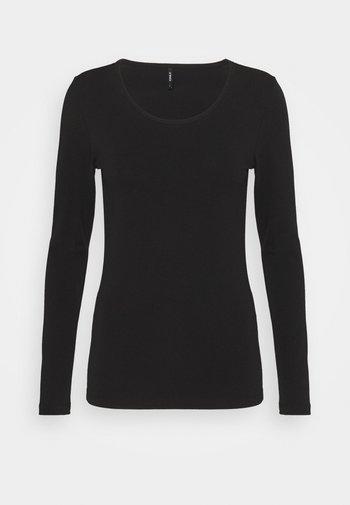 BASIC - Camiseta de manga larga - black