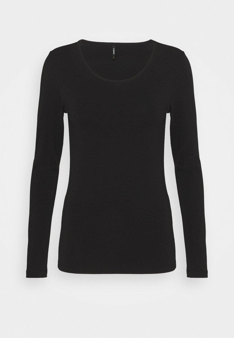 ONLY - BASIC - Long sleeved top - black