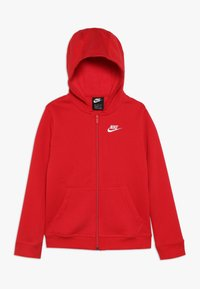 Nike Sportswear - HOODIE CLUB - Mikina na zip - university red/white - 0