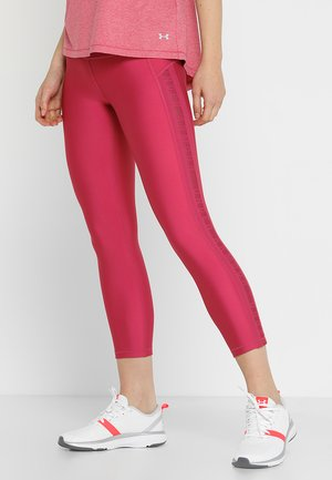 CROP BRANDED - Leggings - impulse pink/metallic silver
