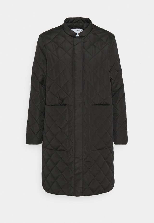 SLFFILLIPA QUILTED COAT - Parkatakki - black