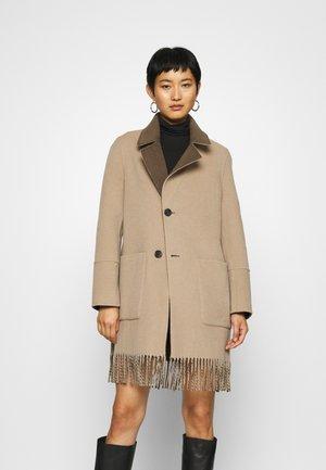 FABIENNE  - Classic coat - dark khaki/light beige