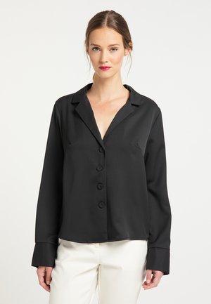 BLUSE - Camisa - schwarz