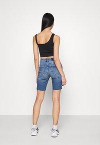 ONLY - ONLERICA LIFE - Denim shorts - dark blue denim - 2