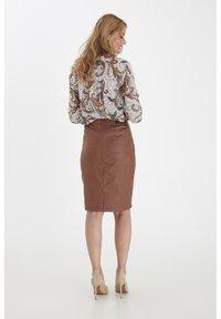 Fransa - FRNOTALIN - A-line skirt - dark camel - 3