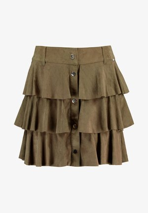 GONNA MINI - A-line skirt - vert militaire
