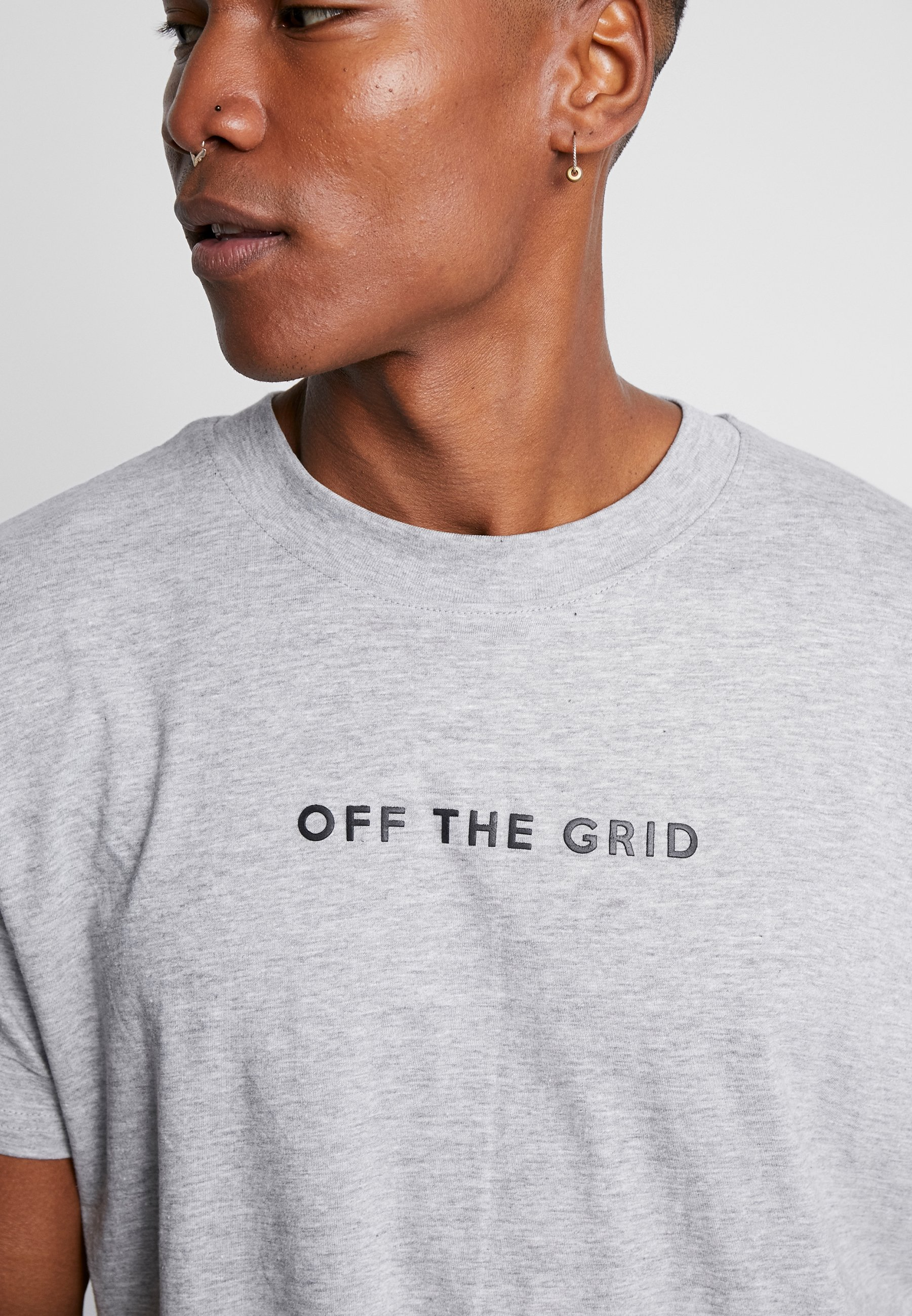 Night Addict GRID - T-shirts med print - grey