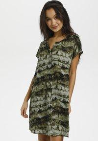 Kaffe - BPSUSANA  - Tunic - green tie dyed print - 0