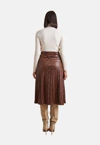 Elena Mirò - GONNA PLISSÉ - A-line skirt - marrone - 2