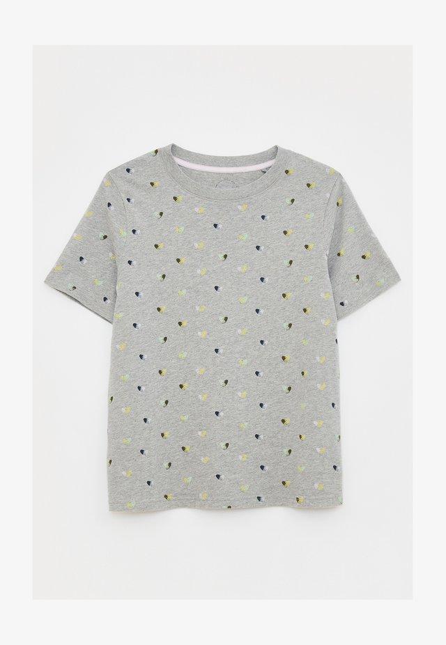 Print T-shirt - grau mehrfarbig