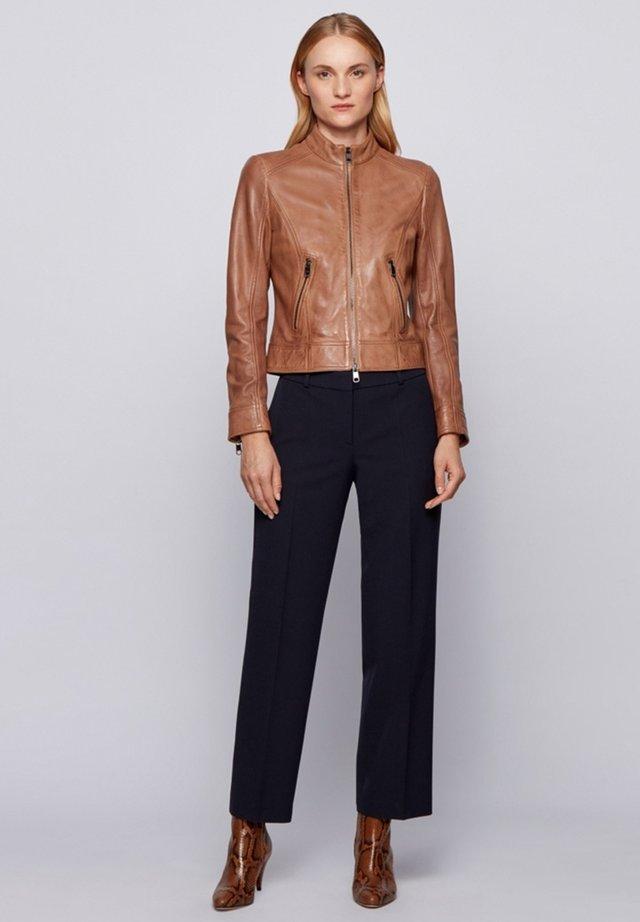 Leather jacket - light brown