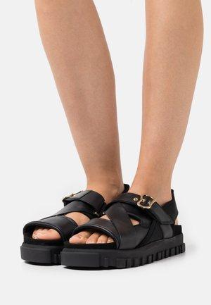 NATIONAL  - Platform sandals - black