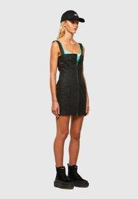 Diesel - VOLCANO - Denim dress - black - 1