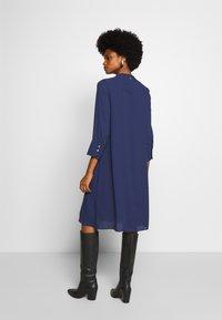 Rich & Royal - DRESS WITH PIN TUCKS AND PLISSEE - Denní šaty - deep blue - 2