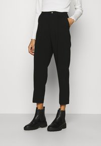 Anna Field - BASIC BUSSINESS PANTS WITH PINTUCKS  - Trousers - black - 0
